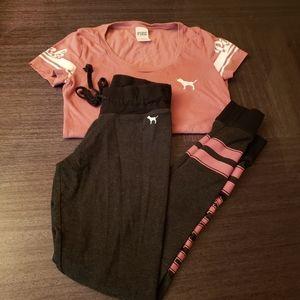 Victoria Secret PINK joggers and shirt set